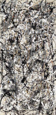 Reproduction de Pollock, Cathedral. Tableau peint à la main dans nos ateliers. Peinture à l'huile sur toile.