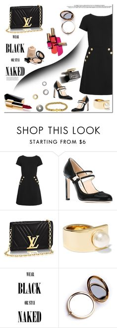 """""""Black dress! TOP SET  FASHION 03/01/2017!"""" by tatajrj ❤ liked on Polyvore featuring Boutique Moschino, Jimmy Choo, Givenchy, Odeme, Yves Saint Laurent, Armani Privé, Chanel, D&G and blackdress"""