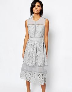 Whistles | Whistles Midi Dress in Bonded Lace at ASOS