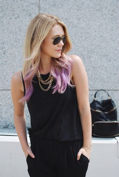 Purple Hair Purple Ombre Purple Hair Chalk