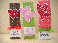 Thinking of hosting a mother/daughter valentine card making party and these would be super fun!