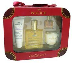 """NUXE COFFRET NOEL HUILE #PRODIGIEUSE - """"Le coffret Prodigieuse"""" de #NUXE, contient 4 produits emblématiques pour sublimer la peau par les fragrances mythiques de l'huile précieuse de NUXE, idée-al comme #cadeau de #Noel : - Crème prodigieuse Hydratante Défatiguante - Huile prodigieuse  - Huile prodigieuse Or - Bougie"""