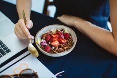 person holding white ceramic bowl with cereal and milk photo – Free Human Image on Unsplash