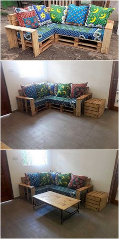 Pallet Ideas : Want to improve your house with wooden pallet furnishing? We're the right place for you. Click & get to know lots of pallet ideas. Diy Pallet Couch, Wood Pallet Furniture, Pallet Crafts, Diy Pallet Projects, Pallet Ideas, Headboard Shapes, Small Living Room Layout, Corner Couch, Pallet Designs