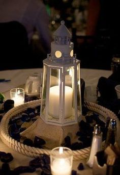 lighthouse centerpieces wedding - Google Search