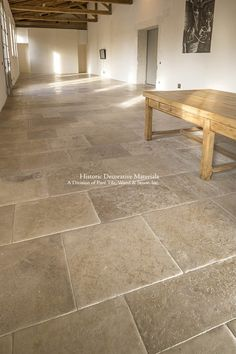 Marie Antoinette Aged French Limestone Flooring - Historic Decorative Materials, a division of Pavé Tile, Wood & Stone, Inc. Basement Flooring, Vinyl Flooring, Kitchen Flooring, Flooring Ideas, Kitchen Backsplash, Limestone Flooring, Travertine Floors, Limestone Patio, House Architecture