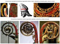 Ornamentica este completată de simbolismul inspirat din regenerarea ciclică a naturii, sugerat prin cârcei de viţă de vie, ramificaţi la intervale mai mult sau mai puţin egale.