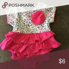 2 piece outfit Pink cheetah outfit 2 piece bottoms separate Other