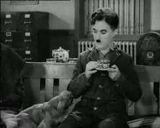Charlie Chaplin in Modern Times Coffee Drinking :)