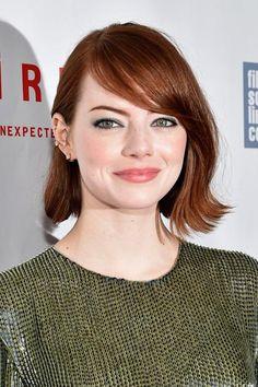 Emma Stone beauty evolution—October 2014
