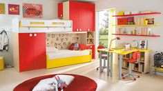 Bright colours for kids rooms