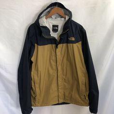 The North Face DryVent Light Rain Jacket Navy Gold Size XL Hood Waterproof   fashion   c751266f14f1