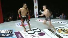 Galdino Saquarema Esporte: Lutador dança no cage e é nocauteado com chute na ...