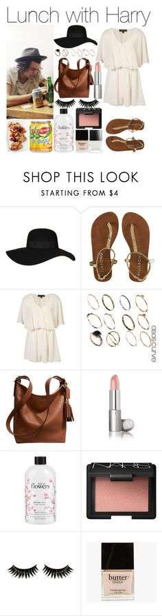 """Lunch with Harry"" by mrspayne-1d ❤ liked on Polyvore featuring Topshop, ASOS, Coach, philosophy, NARS Cosmetics, Boohoo and Butter London"