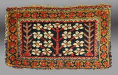 "Afshar ""Chanteh"", S. Persia, 19th C., 1' 2"" x 9"" A rare, unusual weaving, one of many featured in the current exhibition, ""Light on Persia"" October 14 - December 1, 2014 (by appt) $2500 To see ..."