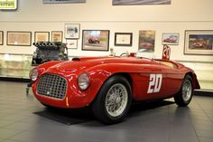 1949 Ferrari 166 MM Touring Barchetta finished 1st overall at the 1949 24 Hours of Spa at the hands of Luigi Chinetti and Jean Lucas