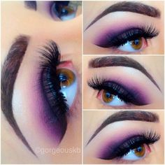 Purple Haze using all MAC cosmetics steps as follow:: 1.) use paints in BARE CANVAS as a base/primer 2.) on lid pack on SKETCH & SHADOWY LADY eyeshadow 3.) blend out with FIG 1. eyeshadow 4.) on corner crease, apply BEAUTY MARKED eyeshadow 5.) as a liner apply fluidline BLACKTRACK 6.) on brow bone use Urban Decay VIRGIN eyeshadow #makeup