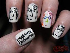 Imagine John Lennon nails
