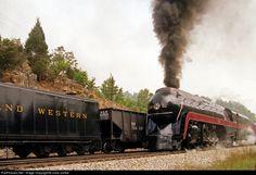 RailPictures.Net Photo: 611 Norfolk & Western Steam 4-8-4 at Unknown, Virginia by Juice Junkie