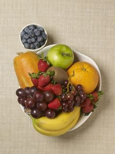 Turns out an apple a day (and an orange, kiwi, and banana) can keep the doctor away. Your healthy bowl of fruit should look like this.TOP 8 Healthiest Fruits