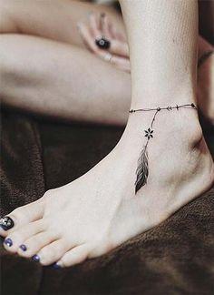 tatuajes en tobillos para mujer tipo brazaleta