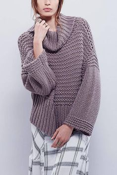 Free and Crochet Sweater Pattern For This Year of Best 2020 Part 31 - Cardigan Stricken Loose Sweater, Long Sleeve Sweater, Grey Sweater, Grey Shirt, Casual Sweaters, Pullover Sweaters, Chunky Sweaters, Vetements Clothing, Sweater Knitting Patterns