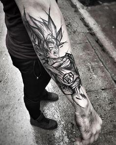 Tattoo Dragon Ball Small Ideas For 2019 Z Tattoo, Tattoo Video, Sick Tattoo, Body Art Tattoos, Tatoos, Cool Tattoos For Guys, Trendy Tattoos, Black Tattoos, Small Tattoos