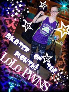 LoLo, skater of the month, roller derby, roller radicals, derby girl