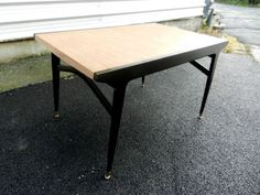 Fab Mid Century dining table with beautiful black legs  | eBay UK