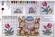 Virtual Ponto-Cruz: Gráficos - Páscoa Cross Stitching, Cross Stitch Embroidery, Cross Stitch Patterns, Easter Cross, Easter Crochet, Cross Stitch Animals, Hello Kitty, Kids Rugs, Craft Ideas