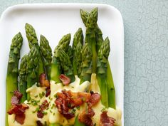 Asparagus With Bacon Sabayon recipe from Food Network Kitchen via Food Network