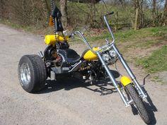 VW Custom road legal trike chopper bobber chop reliant LOOK | eBay