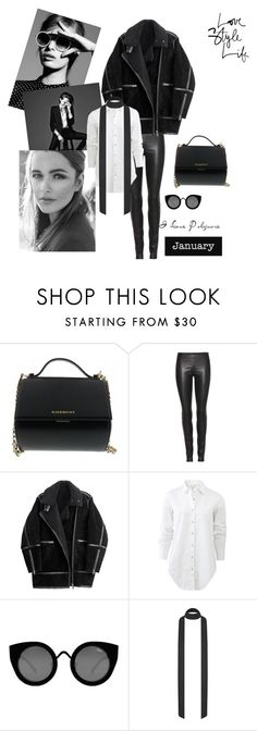 """""""All black"""" by cathylau on Polyvore featuring Givenchy, The Row, H&M, rag & bone, Quay, women's clothing, women's fashion, women, female and woman"""