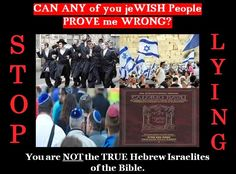 Ahayah Yashiya - The Truth Be Told! : Documented Proof the jeWISH People in Israel and America Today are NOT the REAL Hebrew Israelites