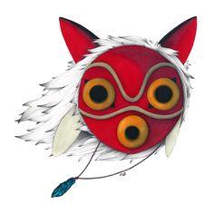 Mononoke Mask  Art Print