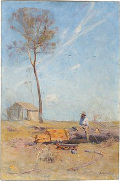 Arthur Streeton  The Selector's Hut  1890