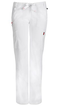 084bb5335c0 Code Happy Bliss with Certainty Plus Low-Rise Drawstring Cargo Pant in  White Scrub Shoes