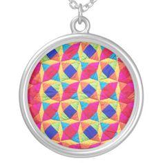 Patchwork Quilt Necklace: $36.45  #patchwork #quilts #jewelry  http://www.zazzle.com/patchwork_quilt_necklace-177221581553361480?rf=238041988035411422