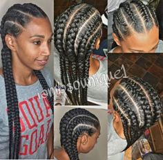 Latest Braided Hairstyles, French Braid Hairstyles, African Braids Hairstyles, Straight Hairstyles, Short Hairstyle, Hairstyle Ideas, Easy Hair, Cornrows With Weave, Braids Cornrows