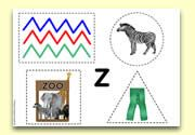 'Z' Themed Scissor Control Worksheet