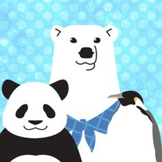 "Japanese comic ""Polar bear Cafe"""