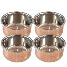 Buy Designer Tableware Copper Serving Bowl Set Of 6 Indian Utensils Online At Low Prices In