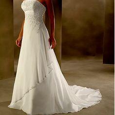Beautiful White Long Summer Beach Wedding Evening Cocktail Dress Gowns SKU-118089
