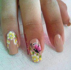 Floral Nail Art, 3d Nail Art, 3d Nails, Swag Nails, Cute Nails, Pretty Nails, Acrylic Nails, Mani Pedi, Pedicure