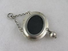 Unusual Antique Victorian Silver & 9ct Gold 'Tulips' Locket Pendant from blackwicks on Ruby Lane