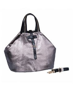 Look at this #zulilyfind! Metallic Nadia Embossed Leather Tote by Foley & Agamo #zulilyfinds