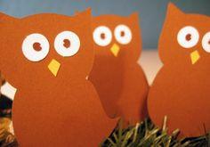 Owl die cuts #etsy #owl #paper #scrapbooking