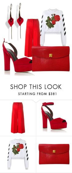 """""""red fusion"""" by sia-gl ❤ liked on Polyvore featuring Sonia Rykiel, Giuseppe Zanotti, Off-White and Hermès"""