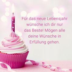 """Geburtstagsspruch: """"Für das neue Lebensjahr wünsche ich dir nur das Beste! Mögen alle deine Wünsche in Erfüllung gehen."""" Mehr Sprüche zum Geburtstag gibt es auf Mein-wahres-Ich.de"""