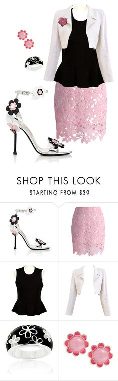 """""""Untitled #1171"""" by george-isaacs ❤ liked on Polyvore featuring Prada, Chicwish, French Connection, Chanel, Glitzy Rocks and Kate Spade"""